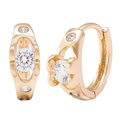 romantique classique du mariage Bague style pierre précieuse French-back Boucles d'oreilles créoles