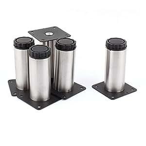 sourcingmap® Soutien Cabinet Montage vis 100mm, hauteur réglable pieds jambe 5pcs plinthe