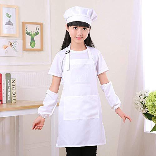 Mein HERZ Delantal Infantil + Gorro de Cocinero Infantil,Delantal de Cocina Infantil...