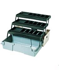 Zebco Boîte à accessoires de pêche 3 plateaux Beige/gris 42 x 22 x 20 cm