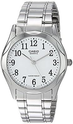 CASIO 19044 MTP-12 - Reloj Caballero cuarzo brazalete metálico dial blanco