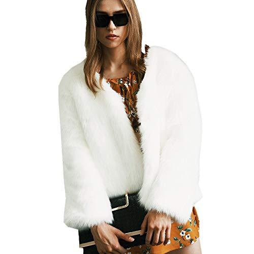 Felicove Damen Strickjacke, Mode Winter Bluse Elegant Windbreaker StrickpulloverWeich Strickjacke Strickjacken Kunstpelz Strickpullover Warme Parkajacke Beiläufig Weihnachten Mäntel Jacken -