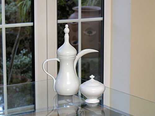 Bianco porcellana Arabica Coffee Pot
