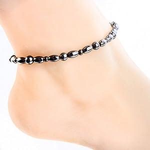 ECMQS Magnetfeldtherapie Fußkettchen, Gesunde Gewichtsabnahme Ankle Armband Für Frauen Männer Schmuck Neue