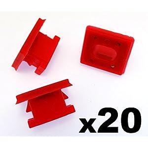 """20x Agrafes Pour Vehicules – Tableau de board Régleur Bande Å""""illet. Rouge Clips pour Panneau Insert E46 E83 E65 E66 (51458266814) – Garnissages / Habillages – Livraison Gratuite!"""