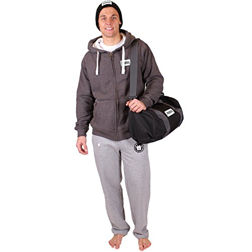 University of Whatever Dicke Warme Sweatpants für Männer Schwarz Medium Best Herren UK (FR600) (Abercrombie Fitch & Hose)