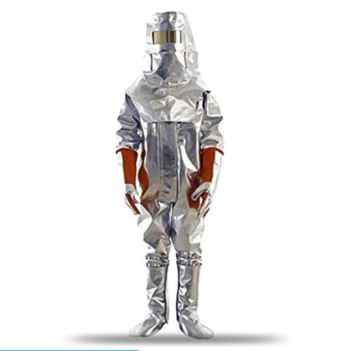 Protezione generale e sicurezza Work19N Isolamento Tuta Alluminio Abbigliamento protettivo Resistenza alle radiazioni 1200 ° C Abbigliamento antincendio