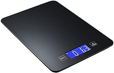 Bilancia Wireless da cucina Topop Smart Bluetooth Scala dell'Alimento con App, Wireless Bilancia da Cucina Digitale con Rinforzato Vetro e Pulsanti a Sfioramento, 11lb 5kg Capacità, Display a LED con Retroilluminazione, per La Dieta Sana