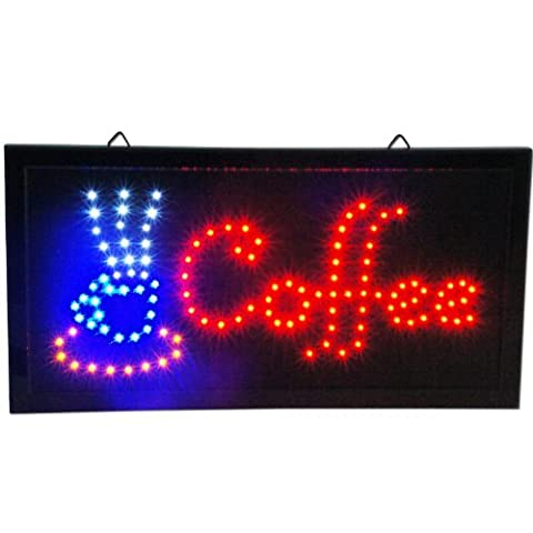 Coffee LED Animated Cafe Open Sign Store Neon Business Shop Light On/Off Switch by 2020 Co.
