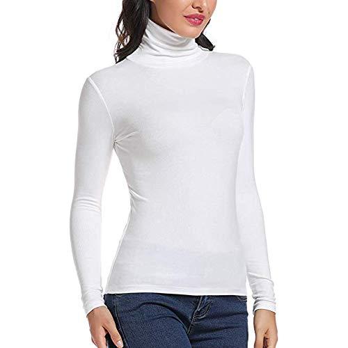 Carcos Womens Polo T-Shirt š€ Manches Longues en Coton Stretch š€ col RoulšŠ et š€ Manches Longues