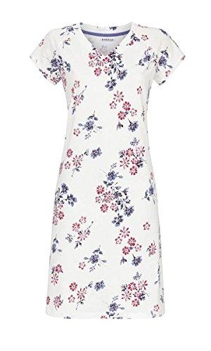 Ringella Damen Nachthemd mit V-Ausschnitt Off-White 40 9211061, Off-White, 40