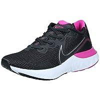 Nike Renew Run, Women's Road Running Shoes, Black (Black/Metallic Dark Grey-White-Fire Pink), 39 EU