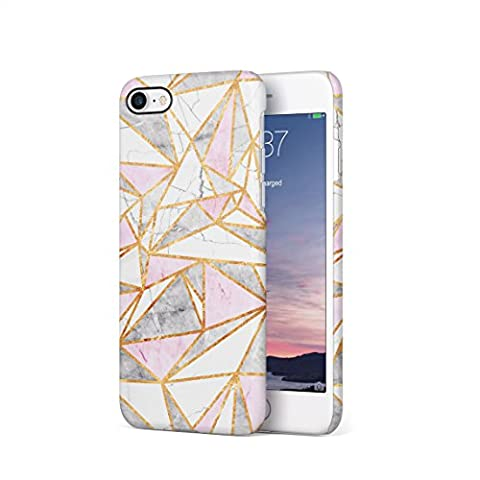 Granite, White & Candy Pink Marble Stone Triangle Pattern Hard