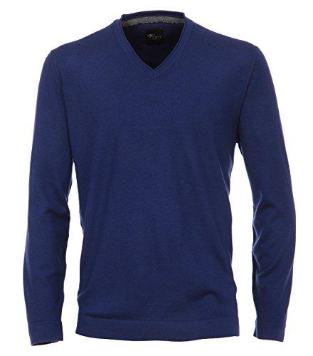 Venti - Slim Fit - Herren Pullover aus Merinowolle mit V-Ausschnitt in verschiedenen Farben (162504600) Blau (143)