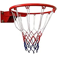 SONGYU Niño Disparando Anillo De La Cesta Canasta De Baloncesto Hueco Aro De Baloncesto Bajo Techo, En Exteriores Adolescente Netball Ring Montado En La Pared Juguete Diámetro 45 Cm (Color : Red)