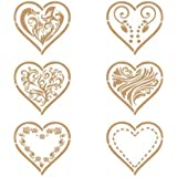 Stencil Deco Vintage Composición 100 Seis Corazones. Medidas aproximadas:Tamaño del stencil 20 x 30(cm) Tamaño de la figura 18.4 x 24.5(cm) Tamaño del corazon 8.7 x 8.1(cm)