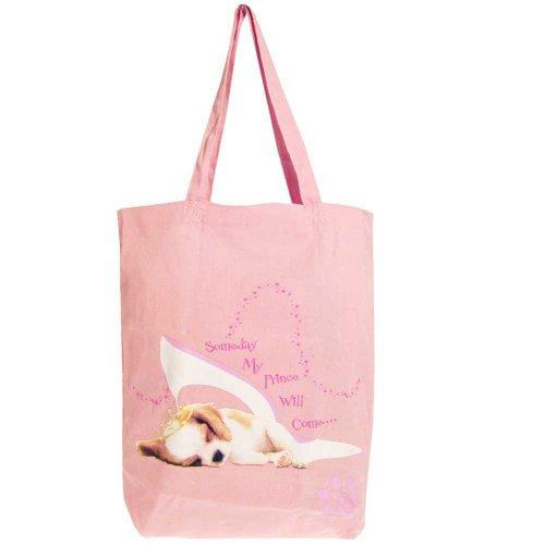 Pritties Accessories echtem der Hund 'Fairy Tail Traum Baumwolle Tote Einkaufstasche Sommer Tasche (Sommer Tote Taschen)
