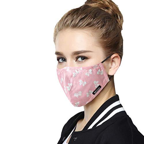 BETOWEY Staubmaske, wiederverwendbar, Anti-Staub-Maske, mit Kohlefilter, Mund, Nase, Anti-Rauch, Staub, Pollen-Allergie PM2.5 -