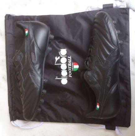 Diadora Chaussures de Football Brasil Italy og MD PU Noir