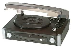 Elta - 2950 stéréo-platine disque-haut-parleur de 40 w pMPO entrée/sortie) (noir/argent)