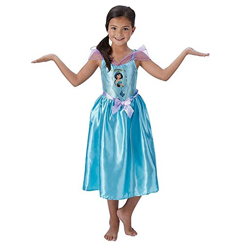 Jasmin Uk Kostüm (Fairtytale Jasmin - Disney Princess - Kinder Kostüm - Medium - 116cm - Alter)