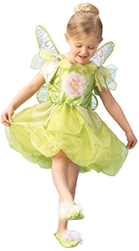 Rubies 3 883685 L - TinkerBell Platinum Größe L (7-8 - Ruby Hausschuhe Kostüm