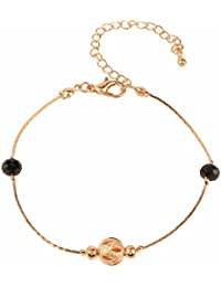 Efulgenz Gold Tone Fashion Stylish Handmade Chain Charm Bracelet For Women And Girls With An Extender.