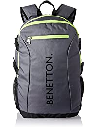 United Colors of Benetton 22 Ltrs Grey Casual Backpack (16A6BAGT7003I)