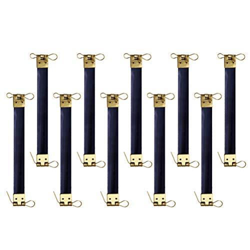 SUPVOX 10 STÜCKE Metall Interne Flex Frames Kuss Verschluss Groß Geldbörse Rahmen Münze Handtasche Scharniere für Verschluss Tasche Geldbörse -