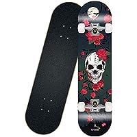 Monopatín Longboard de Osprey Rueda FreeStyle Flash Longboard Skateboard completas 31 x 7,8 pulgadas calle cepillo crucero for adolescentes principiantes de chicas adolescentes de los muchachos for ni