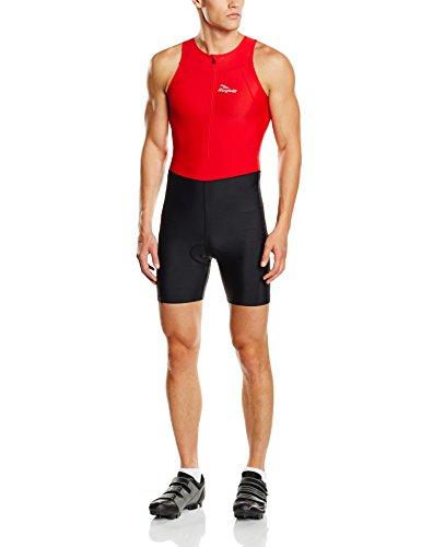 Rogelli Florida Combinaison de triathlon pour homme Noir noir/rouge L