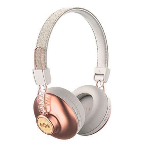 House of Marley Positive Vibration 2 BT - Kabellose Bluetooth On-Ear Kopfhörer, Geräuschisolierung, Premium Sound, Mikrofon, Laden via USB, 10 Std. Akkulaufzeit, nachhaltige Materialien - Copper (Marley Kopfhörer Wireless-bob)