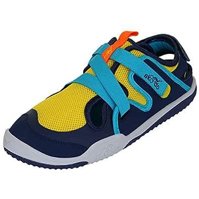 skoodo Kids Casual Sports Shoes (Boys and Girls 6-14 Years) - Ziggie Zag - Sunshine Yellow | Navy - 1.5 UK