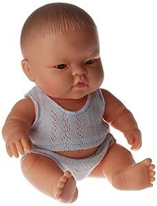 Paola Reina - Muñeca bebé asiática con Pijama Rosa, 22 cm (01015)