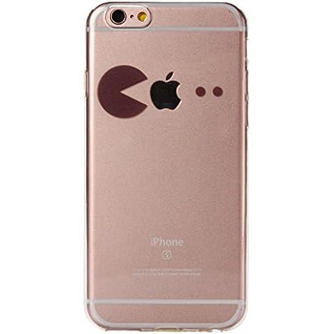 """iPhone 6 / iPhone 6S Cover , YIGA 3D Nero Semplice Trasparente Silicone Cristallo Morbido TPU Case Custodia per Apple iPhone 6 / iPhone 6S 4.7"""""""