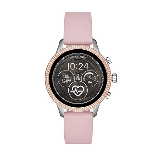 Michael Kors Access Runway Digital Connected Pink Silicone Women's Smartwatch MKT5055
