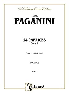 Twenty-Four Caprices, Op. 1: Transcribed for Viola Solo (Kalmus Edition)