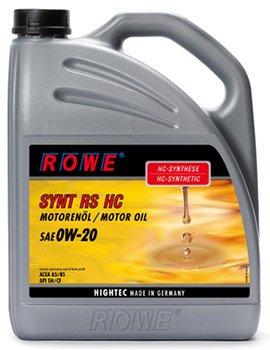 ROWE Hightec synt RS HC Huile de moteur SAE 0W 20synthèse de Moteur de Voitures, vollsynthetisch (HC) |made en Allemagne