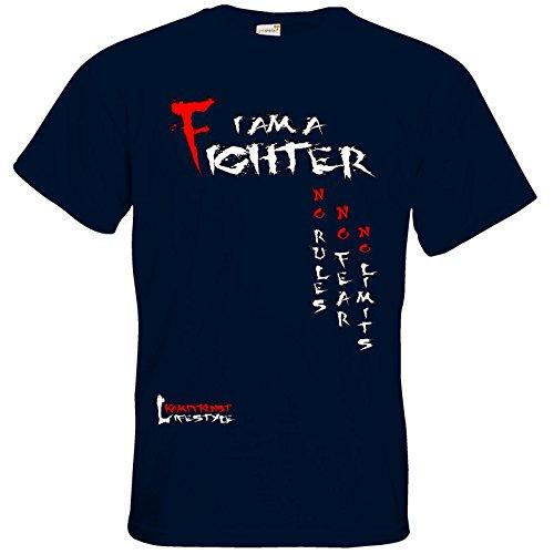 getshirts - Kampfkunst Lifestyle Shop - T-Shirt - Kampfkunst Lifestyle - I am a Fighter Navy
