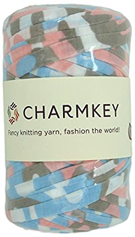 Charmkey Camouflage Print Yarn 6 Super Chunky Natural Soft Cotton