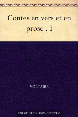 Couverture du livre Contes en vers et en prose . I