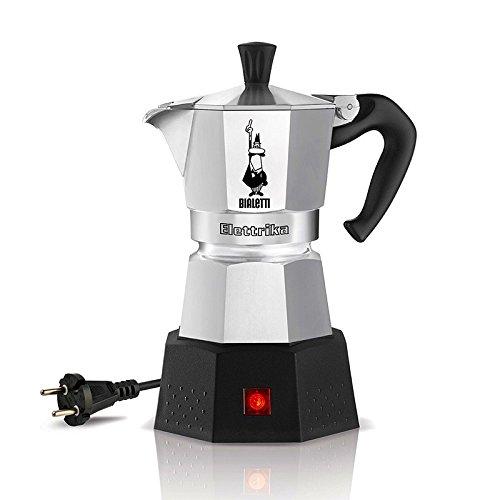 Bialetti Elektrika - Cafetera espresso eléctrica de viaje (110 V / 230 V)