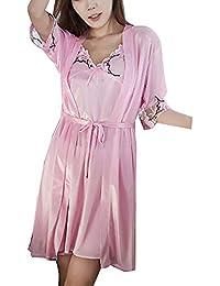 162cba82a5 Vestido De 2 Piezas Camisón Y Kimonos Conjuntos Ropa De Dormir Batas para  Mujer