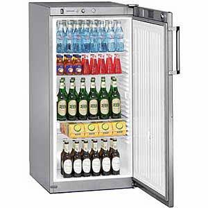 Liebherr FKvsl 2610PREMIUM autonome Silber Kühlschrank Getränkespender-Kühlschränke Getränkespender (autonome, silber, 5Einlegeböden, rechts, R600a, 240l)