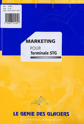 Marketing pour Tle STG, option mercatique