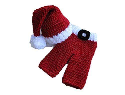 Matissa Baby Santa Neugeborenes Baby Mädchen / Jungen häkeln Kostüm Fotografie Prop - Santa Kostüm Für Jungen