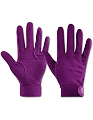 (AL) Reithandschuh Picot, violett, XL, violett, XL