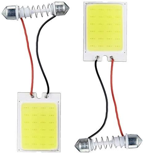 Generic Hub 24 LED COB Universal Size Car Interior Roof Light (White) -Set of 2 Pcs