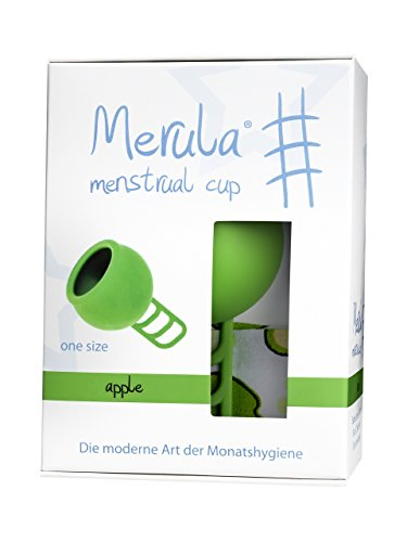 Merula Cup apple (grün) - Menstruationstasse aus medizinischem Silikon