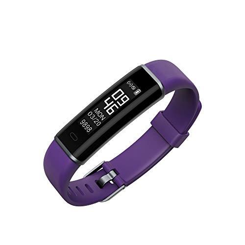 Jiameng smartwatches - inseguitore di fitness del braccialetto intelligente orologio impermeabile id130 per iphone per android smart watch viola
